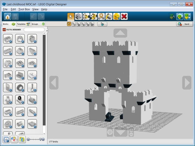 Computer aided design quest for bricks for Digital blueprint maker