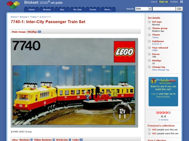How much of a 1980 LEGO train can you get new?
