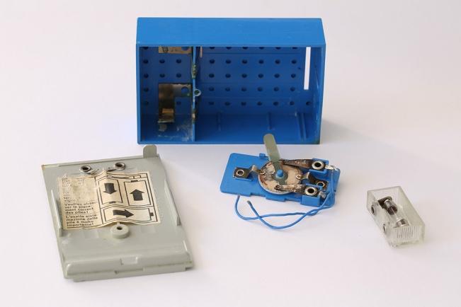1960s LEGO battery box and light brick