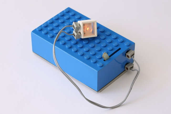 1960s LEGO battery box and light brick